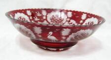 Bowl Ruby Crystal & Cut Glass