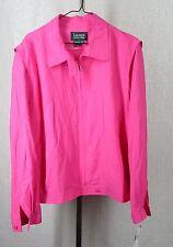 Lauren Ralph Lauren 2XL Jacket Parrot Pink Silk Zip Front Light Weight $219 New