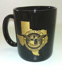 Houston Police Officers Union Texas Ceramic Mug Cup Gold Blue 12 oz