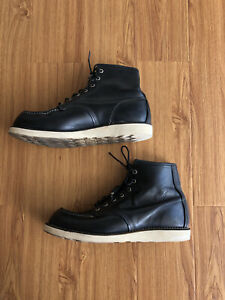Red Wing 8130 Black Learher Boots Size 10 UK