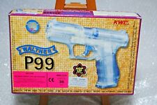 ANCIEN PISTOLET AIR SOFT GUN AIRSOFT KWC  WALTHER P99 TRANSPARENT / TAIWAN
