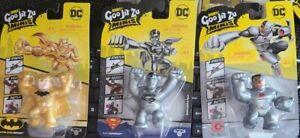 NEW! Heroes of Goo Jit Zu minis DC Ultra Rare Batman Superman Cyborg HTF Chase