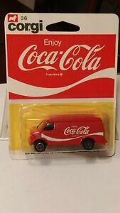 """Corgi #36 """"Coca Cola"""" Van 1978 Mint Carded 1/64"""