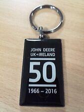 Genuine John Deere 50th Anniversary Metal Key Ring JD Tractor Farm MCJ099769000