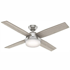 Hunter Fan Company 50284 Dempsey Ceiling Fan with LED Light and Remote, Grey Oak