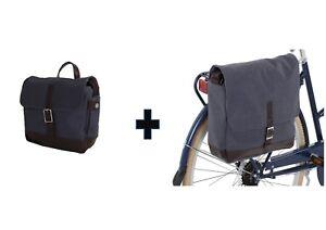 Bobbin cycle Messenger/Landscape Pannier & Handlebar Bag in Sky Blue or Coral