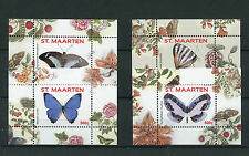 St Maarten 2016 MNH Butterflies 4 x 1v SS III (No 9-12) Insects Butterfly Stamps