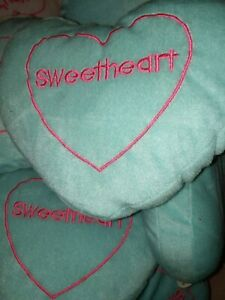 Heart Shaped Throw Blue Plush 9x6 Pillow Gift Home  Decoration Valentine