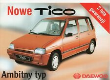 Daewoo-FSO Tico car (made in Poland) _1999  Prospekt / Brochure