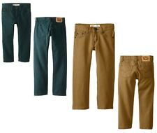 Levi's 513 Boys Jeans Bedford Corduroy Pants Bronze Brown or Pine Green 18 or 20