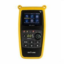 MeterTo Digital 4.3 LCD Satellite Finder Satellite Meter Detector WS-6966 DVB-S//S2 Compliant Terrestrial Signal Receiver QPSK,8PSK Video//Audio Input Memory 1Gbit DDR3