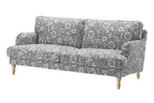 NEW IKEA STOCKSUND 3 SEAT SOFA COVER ONLY IN HOVSTEN GREY/WHITE - 703.202.63