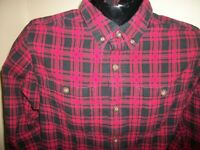 Men's Duluth Trading Co Long Sleeve Button Down Flannel Shirt Size M Medium