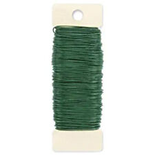 Green Paddle Wire Paddle Wire, 22-Gauge, Green, 38 Yards Garden Xmas Decor #W9H