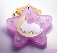 Kitty cat kitten necklace fairy kei kawaii jfashion star moon pink lolita lunar