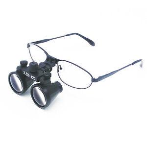3.5X Metal Frame Dental Binocular Loupe Surgical Magnifier Optical Glass DY-104