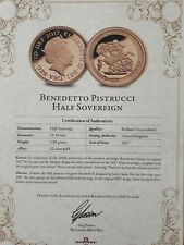 2017 Half A Gold Sovereign by Benedetto Pistrucci,22 carat gold,mint condition