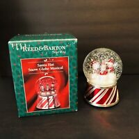 "REED & BARTON Christmas Snow globe Musical ""JOY TO THE WORLD"" Silverplate Base"