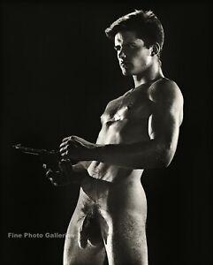 1950s BRUCE BELLAS Of L.A. Vintage Nude Male RYAN IDOL Gay Photo Engraving 12X16