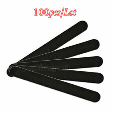 100 Pcs Black Round Nail Files 100/18 Nail Art Manicure Sanding File Grits Tools