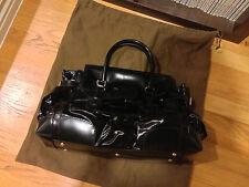AUTHENTIC Gucci DIALUX Queen Bow Black Leather Handbag Top Handle Satchel Large