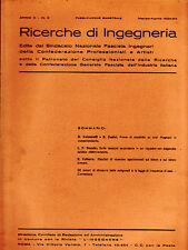 RICERCHE DI INGEGNERIA - anno II - bimestrale n. 2 - marzo/aprile 1934