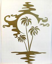 Adesivo Spiaggia Palma palm albero paesaggio murale wall sticker sea mare sole