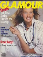 MARCH 1989 GLAMOUR - vintage fashion magazine - great ads