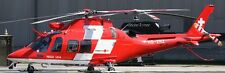 A-109 Swiss Air Ambulance Agusta Helicopter Mahogany Wood Model Small New