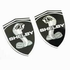 2X Cobra Snake Side Car Emblem badge Sticker For ford Mustang GT SHELBY