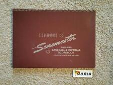 Peterson's Scoremaster Baseball Softball Scorebook