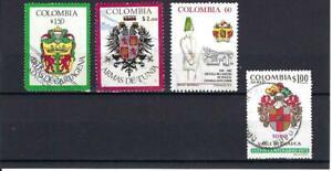 ESCUDOS,-  CARTAGENA,- TUNJA.- ESCUELA DE CADETES GER. SANTANDER. TORO. COLOMBIA