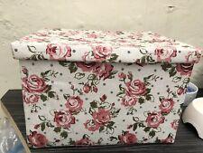 Vintage Flower Fabric /Material Storage Box 30cmsx40cms