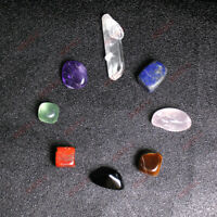 8Pcs/Set Chakra Stones Palm Natural Stone Reiki Healing Crystals Gemstones Decor