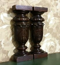 Pair Acanthus leaves carving corbel bracket Antique french architectural salvage