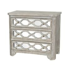 """36"""" Wide Dresser Solid Mango Wood Hand Finished And Distressed Mirror Front"""