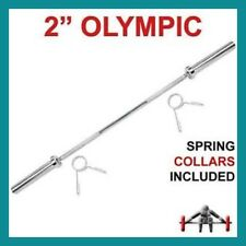 220 cm Chrome 7 Foot Olympic Barbell 700 LB Bar + 2 Free EZY-Grip Spring Collars