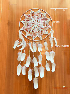 XLARGE 100CM Dream Catcher Feather Home Wall Hanging Room Decoration Ornament