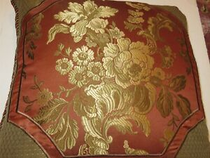 Waterford MACKENNA Floral Frame Square Deco pillow NWT