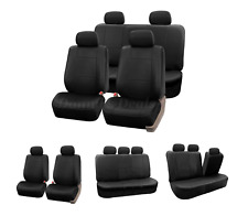 Black Leather Look Car Seat Covers Cover Set For Skoda Skoda Octavia 2013 On