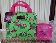 Betsey Johnson Flamingos Insulated Lunch Bag Tote Food Container