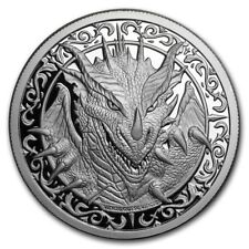 Destiny Knight - The Dragon 2 oz .999 Silver Proof Round USA Capsuled Coin W/COA