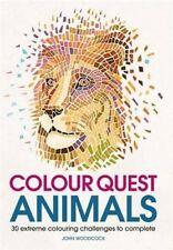 Colour Quest Animals (Colouring Books), Woodcock, John, New