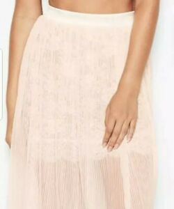 Victoria Secret Dream Angels Tulle Floral Lace Pleated Skirt Large *NWT*