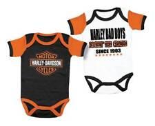 Harley-Davidson Baby Boys' Cradle Creeper Set, 2 Pack, White/Black 3050551