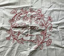 Vintage Embroidered Piece-Wall Hanging? Pillow Top? Names Nellie Mamma Kate