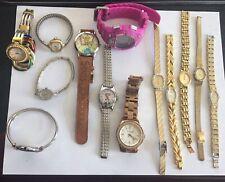 Lot 13 Women's ESQ Michael Kors Seiko Elgin Bulova Timex Citizens Helbros Gold