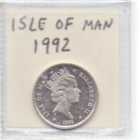 Isle Of Man 10 Pence Coin 1992 Queen Elizabeth II As Pictured