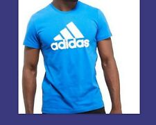 NEW GENUINE Adidas Performance Mens Linear T-Shirt BLUE ALL SIZES