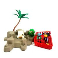 Playmobil Pirate Island Set with 2 Figures and Ship Deck Treasure